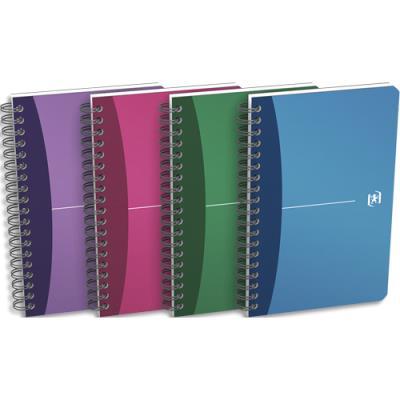 Carnet Oxford Office à reliure intégrale - 180 pages - 11x17 cm -  petits carreaux - couverture en polypropylène -