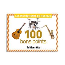 Boîte de 100 bon points thèmes instrulments de musique (photo)