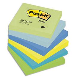 Notes post it coloris assortis rêveuses 76 x 76 mm lot de 6 blocs de 100 feuilles