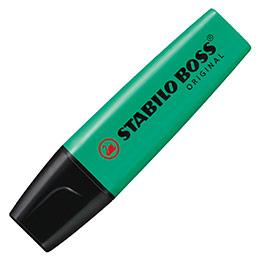 Stabilo Boss turquoise - surligneur pointe large biseautée (photo)