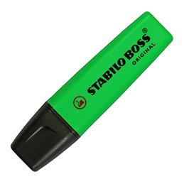 Stabilo Boss vert - surligneur pointe large biseautée (photo)