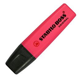 Stabilo Boss rose - surligneur pointe large biseautée (photo)