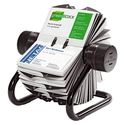 Fichier rotatif Durable Visifix - 400 cartes - onglets A-Z - noir (photo)