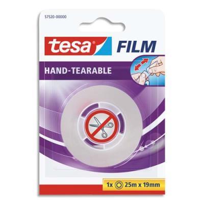 Rouleau d'adhésif transparent déchirable à la main Tesa - 19 mm x 25 m