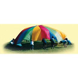 Jeu parachute en nylon léger diamètre 3,6m (photo)