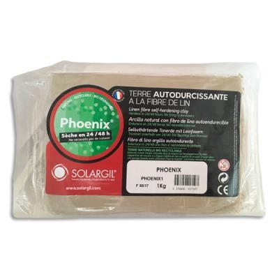Pain de 1kg terre à modeler végétale Phoenix, spécial enfant, recyclable, développement durable