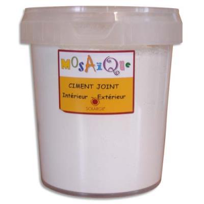 Pot de 1kg de ciment joint blanc (photo)