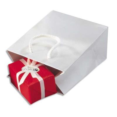 Sac pelliculé - 19 x 27 cm - soufflet de 10 cm - blanc - paquet de 25 sacs (photo)