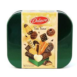 Boite de biscuits Delacre Teatime - boite de 1kg (photo)