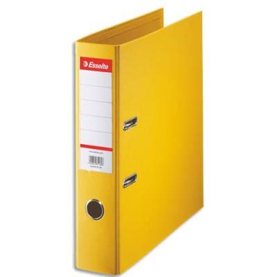 Classeur à levier Esselte - dos de 7,5 cm - plastifié intérieur et extérieur - jaune