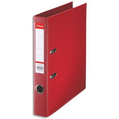 Classeur à levier Esselte - dos de 5 cm - plastifié intérieur et extérieur - rouge