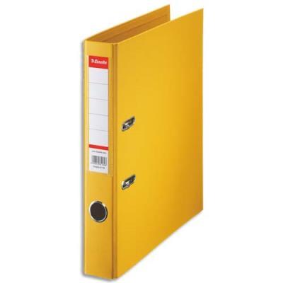 Classeur à levier Esselte - dos de 5 cm - plastifié intérieur et extérieur - jaune