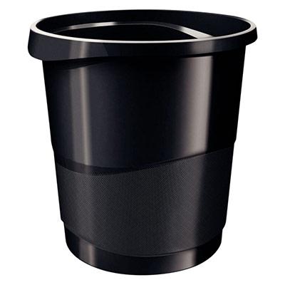 Corbeille à papier Esselte Europost opaque - 14L - noir (photo)