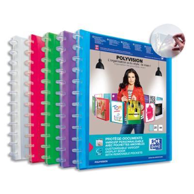 Protège document personnalisable Elba Vario Zipp - 20 pochettes (40 vues) - Format 21 x 29,7 cm - coloris assortis (photo)