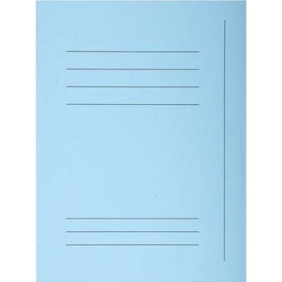 Chemise 3 rabats avec cadre d'indexage Exacompta Super 250 - carte 210 g - bleu - paquet de 50 (photo)
