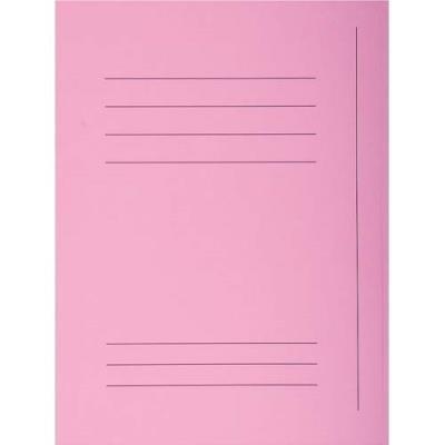 Chemise 3 rabats avec cadre d'indexage Exacompta Super 250 - carte 210 g - rose - paquet de 50 (photo)