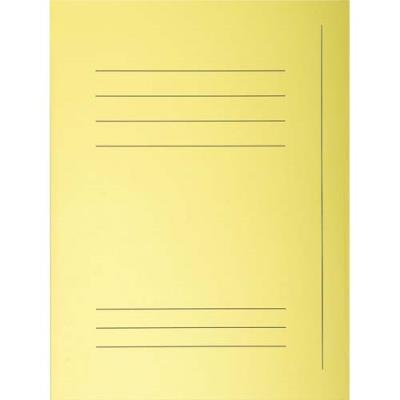 Chemise 3 rabats avec cadre d'indexage Exacompta Super 250 - carte 210 g - jaune - paquet de 50 (photo)
