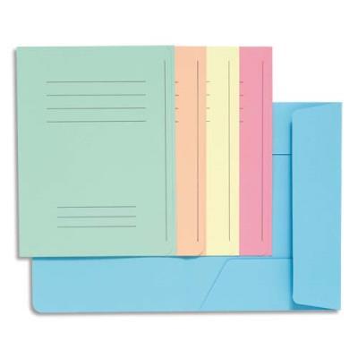 Chemise 3 rabats avec cadre d'indexage Exacompta Super 250 - carte 210 g - coloris assortis - paquet de 50 (photo)