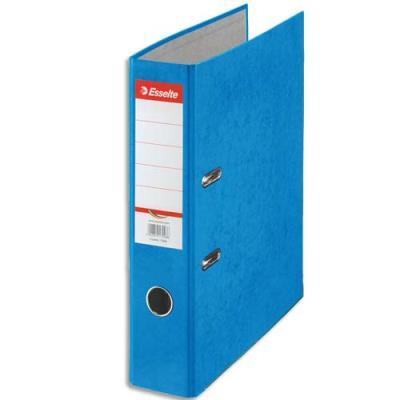 Classeur à levier en carton Esselte Rainbow - A4 - dos de 8 cm - bleu