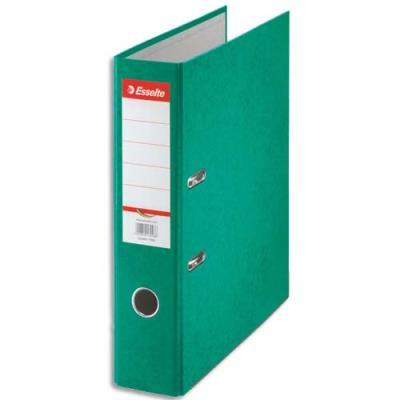 Classeur à levier en carton Esselte Rainbow - A4 - dos de 8 cm - vert