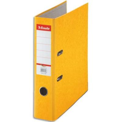 Classeur à levier en carton Esselte Rainbow - A4 - dos de 8 cm - jaune
