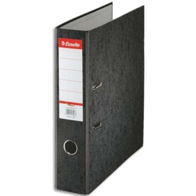 Classeur à levier en carton Esselte Rainbow - A4 - dos de 8 cm - noir