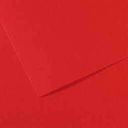 Manipack de 25 feuilles papier dessin Canson - mi-teintes - 160g - 50x65cm - rouge vif (photo)