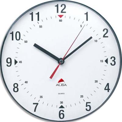 Horloge murale mouvement quartz Horclass - diamètre 25 cm - transparente (photo)