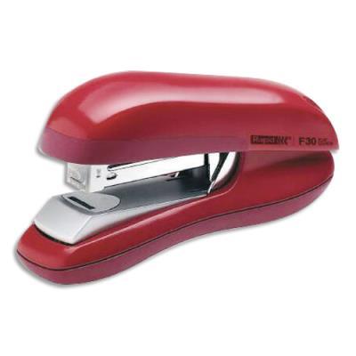 Agrafeuse F30 Flat Clinch Rapid - utilise les agrafes 24/6-26/6 - rouge - 30 feuilles