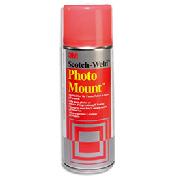 Aérosol de colle Scotch Photo Mount - pour assemblage définitif - 400 ml (photo)