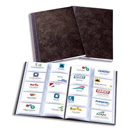 Album Elégance pour cartes de visites - format 30,7x23 cm - pour 400 cartes de visite - noir (photo)