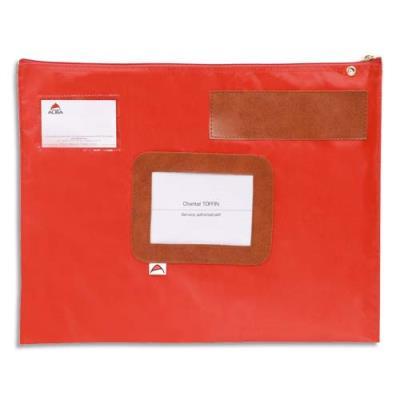 Pochette navette en PVC Alba - format 42x32 cm - rouge (photo)