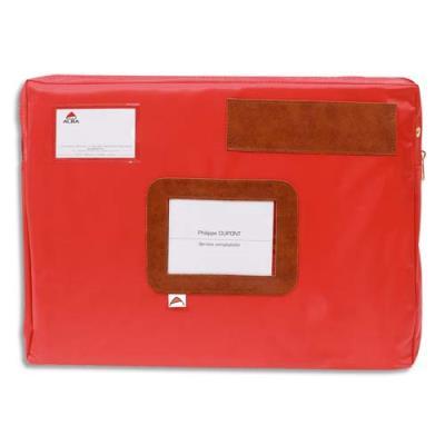 Pochette navette  à soufflets Alba - format 42x32x5cm - rouge (photo)