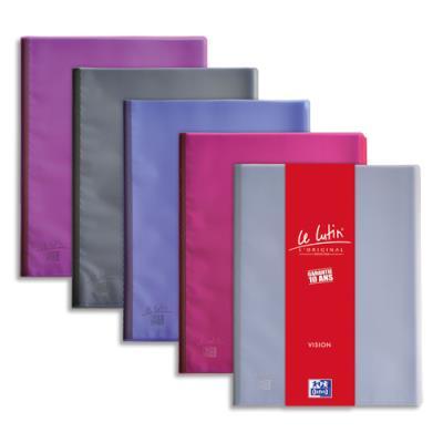 Protège documents Le lutin vision - 40 pochettes - 80 vues - coloris assortis