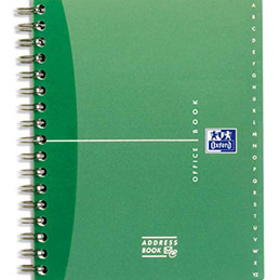 Répertoire Oxford Office à reliure intégrale AdressBook - 160 pages - 14 x 21 cm - papier 90g blanc