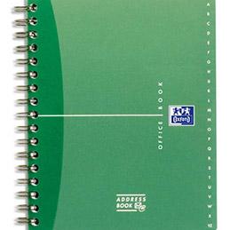 Répertoire Oxford Office à reliure intégrale AdressBook - 160 pages - 21 x 29,7 cm - papier 90g blanc -