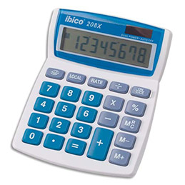 Calculatrice de bureau Ibico Calcul 208x - 8 chiffres (photo)