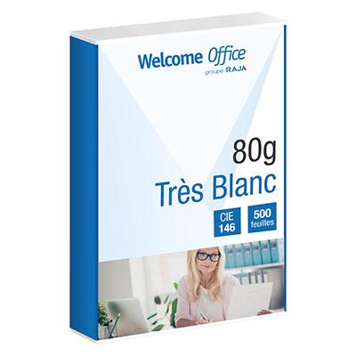 Papier éco pour imprimante - blanc - 80 g - A4 - ramette de 500 feuilles (photo)