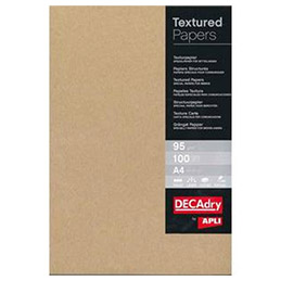 Boîte de 100 feuilles de papier kraft Decadry - A4 - 95 g - brun