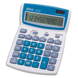Calculatrice de bureau Ibico 212x - 12 chiffres (photo)