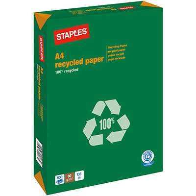 Papier A4 blanc 80g recyclé - ramette de 500 feuilles (photo)