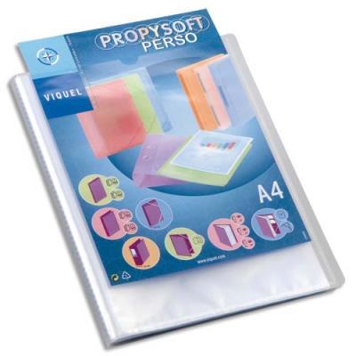 Protège document personnalisable Silky Touch - 20 pochettes/40 vues - coloris givré (photo)