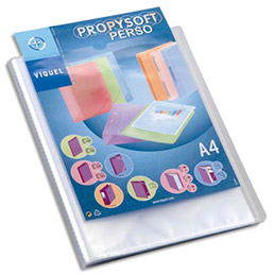 Protège document personnalisable Silky Touch - 80 vues  40 pochettes - coloris givré