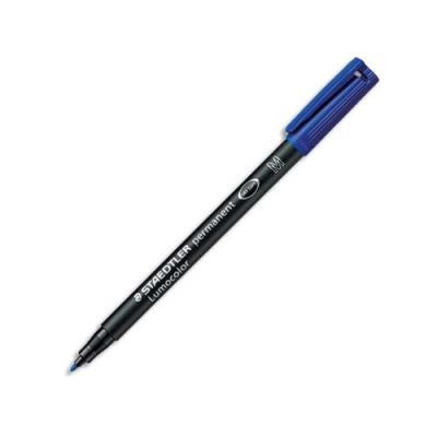 Feutre Staedtler Lumocolor - moyen 1 mm - permanent bleu