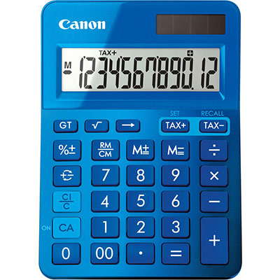 Calculatrice de bureau Canon LS-123K 12 chiffres - bleu (photo)