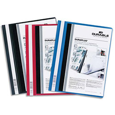 Chemise de présentation personnalisable à lamelles Duraplus  - 24 x 31 cm - coloris assortis (photo)