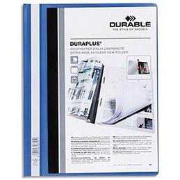 Chemise de présentation à lamelles Durable en PVC - 24 x 31 cm - bleu (photo)