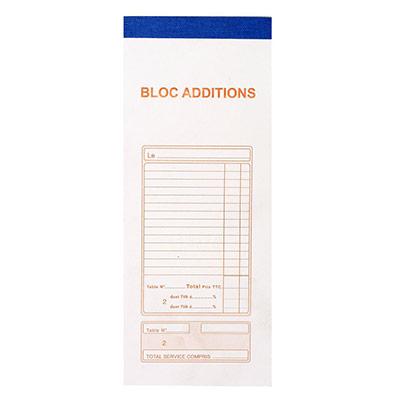 Bloc addition Exacompta - 91x225 mm - 50/2 autocopiant avec numéro - 50 feuillets (photo)