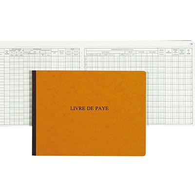 Livre de paye - 32 x 24 cm - 52 pages (photo)