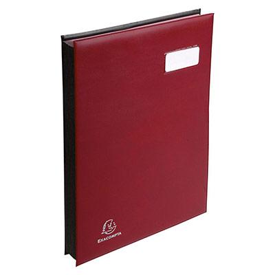 Parapheur 24 compartiments Claircell - bordeaux - couverture en PVC expansé (photo)